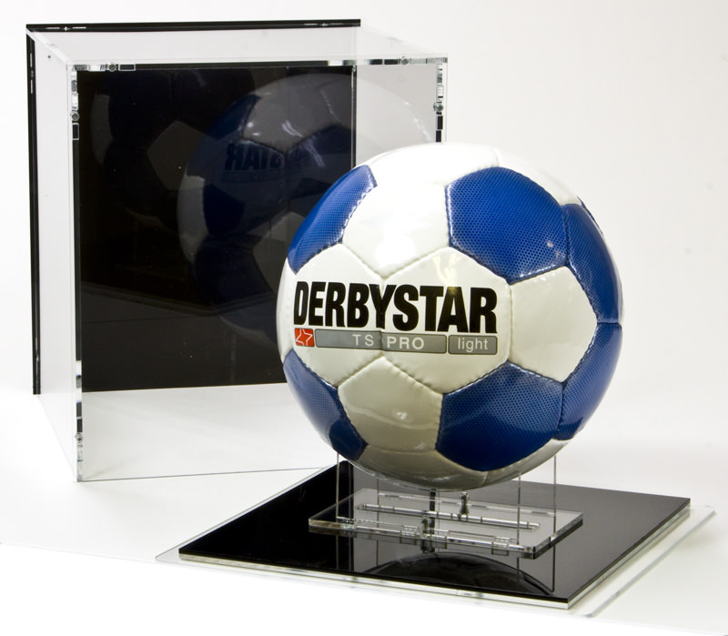 The Football Display Case with Football Stand