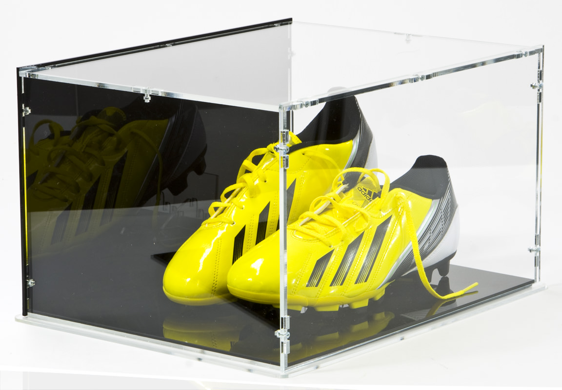 Football Shoe/Boot Display Case side perspective