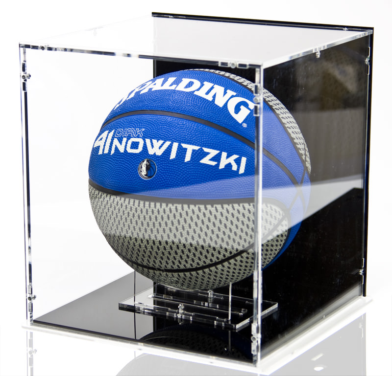 The Basketball Display Case with Basketball Stand