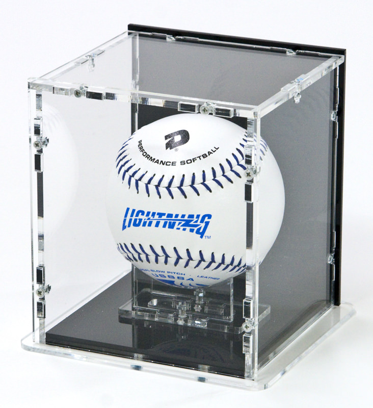 Softball Display Case with Softball Stand