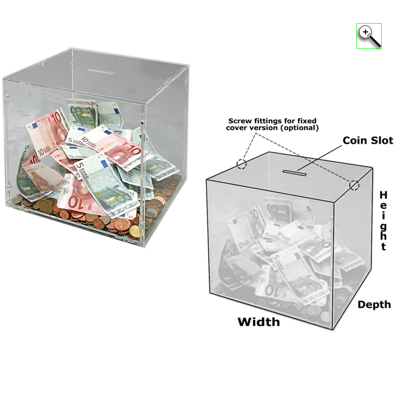 Donation Box Lid Versions Explained