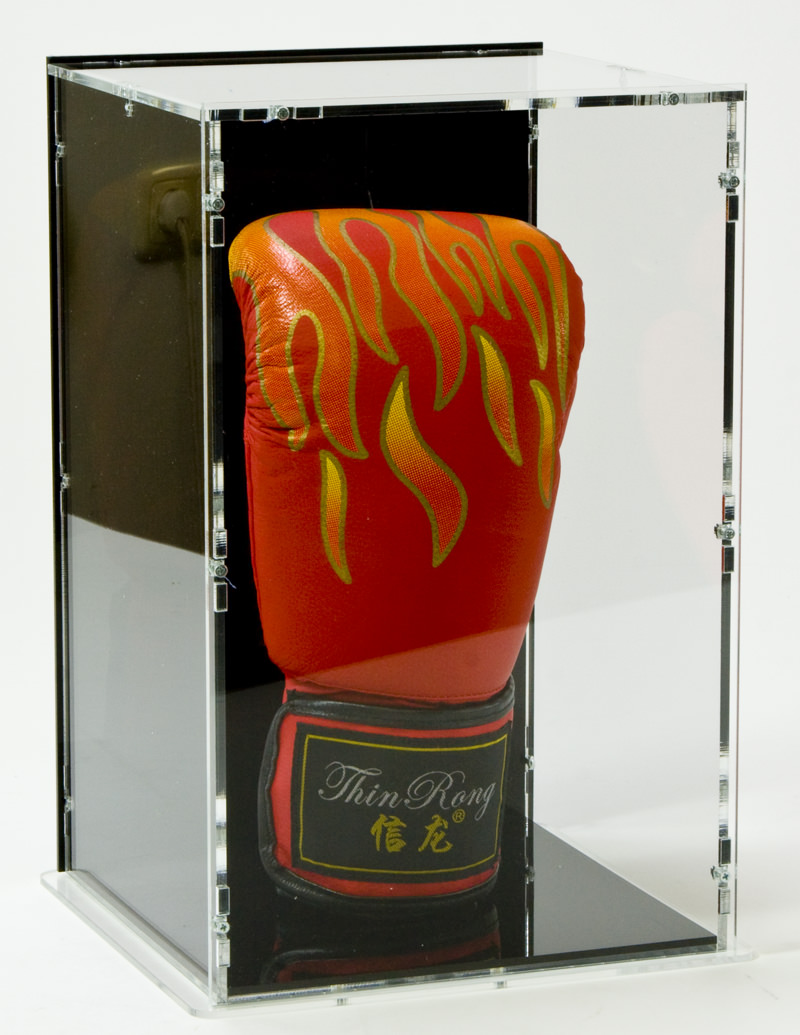 Upright Boxing Glove Display Case