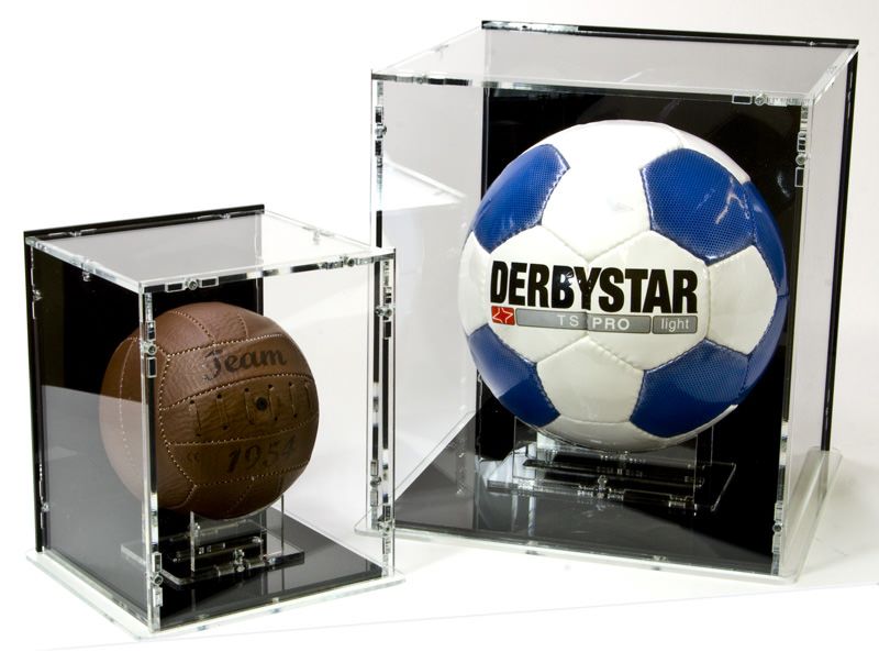 Football Display Case and Mini Football Display Case